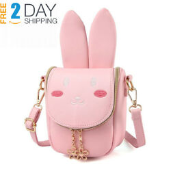 yuboo Cute Bunny Ear Purse Girls'Rabbit Shoulder Bag for Kids and Toddlers...