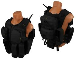 Molle Paintball Milsim Vest Airsoft Army Modular Chest Rig Kit №58 Black