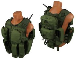Molle Paintball Milsim Vest Airsoft Army Modular Chest Rig Kit 59 Olive Green Od