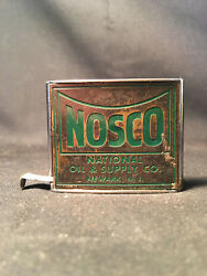 78 Old Vtg Collectible Nosco National Oil And Supply Tape Measure