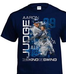 Aaron Judge New York Yankees MLB All Rise 100% Cotton Navy Graphic T Shirt