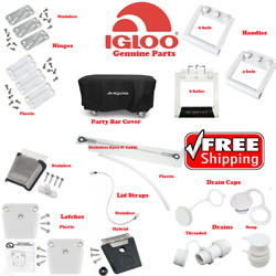 IGLOO COOLER PARTS HINGE LATCH DRAIN PLUG LID STRAP CAP HANDLE STAINLESS STEEL $14.99
