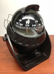 Marine Boat Nautical Sport Black Lighted Compass With Bracket Visible Luber Line