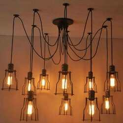 Vintage Spider Industrial Lighting Retro Loft Hanging Suspension Fixtures Decors