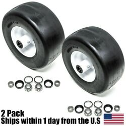 2pk Flat Free 2100 3100 3200 5100 Wheel And Tire For Ferris 13x6.50-6 Part 5023279