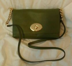COACH CROSSTOWN CROSSBODY IN POLISHED PEBBLE LEATHER Limo Moss $111.00