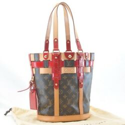 Authentic  Louis Vuitton Monogram Rubis Neo Bucket Hand Tote Bag M95613 #u403a