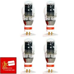 New Genalex Reissue Px300b / 300b Gold Pin Matched Quad 4 Vacuum Tubes