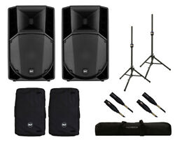 2x RCF ART 715-A MK4 Active Speaker + Covers + Stands + Bag + Mogami Cables