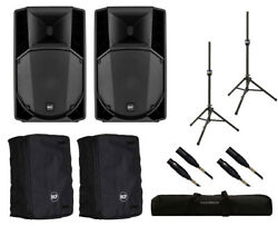 2x RCF ART 710-A MK4 Active Speaker + Covers + Stands + Bag + Mogami Cables