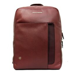 Man woman backpack PIQUADRO ERSE work rucksack red leather new CA4276S95 BO