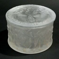 Rene Lalique Clear And Frosted Glass And039figurines Et Voilesand039 Box