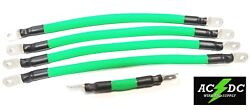 Ezgo Txt Golf Cart Car 48v 2/0 Neon Green Braided Battery Cables 94up 4-17 1-7
