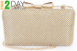Bow Clutches Women Evening Bag for Wedding Prom Cocktail Party Rhinestone...