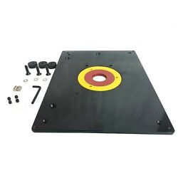 Big Horn 18101 9-inch X 12-inch Router Table Insert Plate With Guide Pin And Sn...