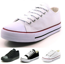 New Mens Classic Lace Up Canvas Shoes Athletic Sneakers Casual Fashion Size 7 12 $21.95