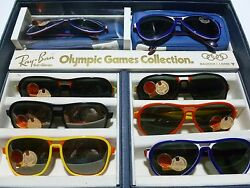 1970S RAY BAN VAGABOND SALESMEN OLYMPIC COLLECTION 8 PAIRS SUNGLASSES BOX CASE
