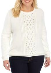 Alfred Dunner® Plus Size 3x Eskimo Kiss Embellished Sweater Nwt 70