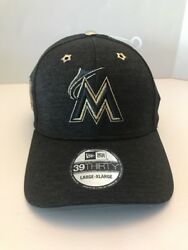 New Era Miami Marlins 2017 All-Star Game Side Patch 39THIRTY Flex Hat SZ LXL