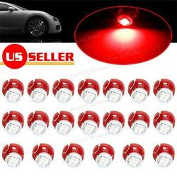 20 x Red T3 Neo Wedge 1206 Led for A/C Climate Heater Control Bulbs Lamp Light