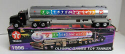 1996 Texaco Olympic Games Toy Tanker Truck Le Collectors Series Horn Lights Nib