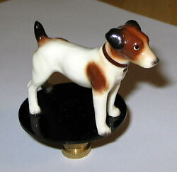 Jack Russell Lamp Finial lamp topper new porcelain