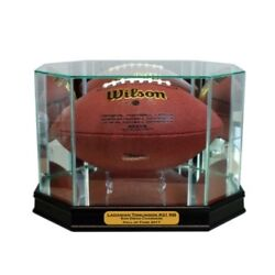 New Ladanian Tomlinson San Diego Chargers Glass And Mirror Football Display Case