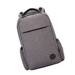 Lekebaby Large Diaper Bag Backpack with Stroller Straps for Mom and Dad in Grey