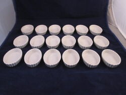 18 Hall 851 Off White 3 Oz Fluted Souffle Brulee Dishes Restaurant Ware Buffet