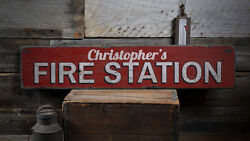 Fire Station Gift Sign Fire Station Decor -distressed Wooden Sign