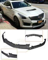 For 16-19 Cadillac Cts-v Abs Plastic Primered Front Lip Carbon Package Style