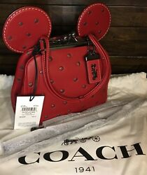 Coach X Disney 1941 Minnie Mouse Double Kisslock Bag 29188 In Red BNWT Original