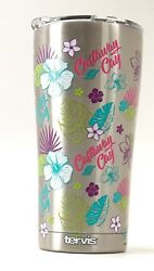 New Disney Cruise Line Castaway Cay Floral 20oz Tervis Insulated Tumbler Mug