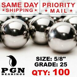 100 Qty 5/8 Inch Tactical Cores Monkey Fist Paracord Chrome Steel Bearing Balls