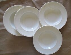 Wedgwood Windsor Set Of Four Cream 6 Coupe Cereal Bowls Mint