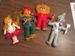 Vintage Bucilla Wizard of Oz ornament Set Felt Sequin handmade