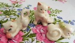 Lot of 3 Vintage White Cat Figurines From CERAMIC ARTS STUDIO Madison WI