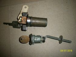 Vintage Gm Ignition And Trunk Key Cyliner With Keys