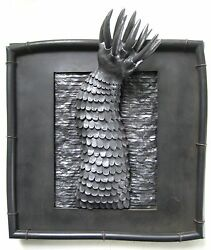 Fl/ny Listed Carol Brown Wall Sculpture Claw Sci Fi /game Of Thrones Chair Style