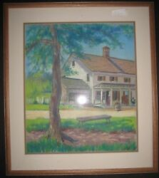 Vintage Impressionist Farm Country General Store Signd