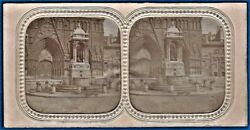 Early Salt Paper Tissue Stereoview Foto Photo Stereo St Jean Lyon France Ca 1855