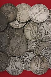 Make Offer 12 Standard Ounces Walking Liberty Half Dollars Junk Silver Lot 14.00