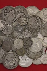 Make Offer 3 Standard Pounds Mixed 90 Silver Coins 48 Halves Included Junk