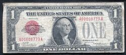Fr. 1500 1928 1 One Dollar Red Seal Legal Tender United States Noteandnbsp