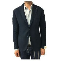 Menand039s Jacket Unlined L.b.m 1911 Blue Of Wales 93cotton 7 Silk 2857