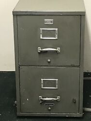 Underwriters Laboratories Inc. Insulated 2 Drawer Filing Cabinet Vintage