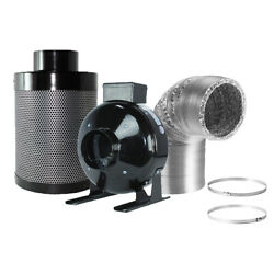 Hydroponics 4'' Low Noise  HIGH CFM Air Blower Cool Vent Exhaust Inline Duct Fan