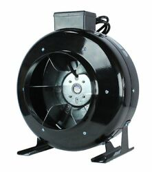 Hydroponics 8'' Low Noise  HIGH CFM Air Blower Cool Vent Exhaust Inline Duct Fan