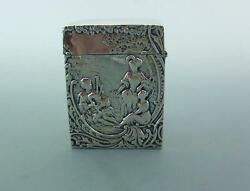 Edwardian Solid Sterling Silver Playing Card Case William Comyns