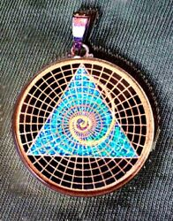 Sacred Geometry Golden Mean Spiral Unique Handmade Pendant S Silver New Gift